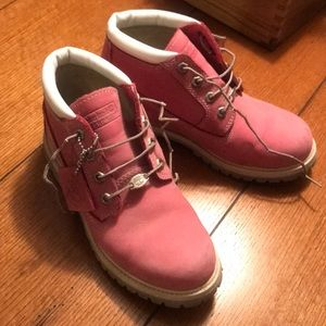 Pink Timberland Boots! Women's size 7!
